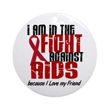 In The Fight Against AIDS 1 (Friend) Ornament (Rou