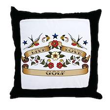 Live Love Golf Throw Pillow