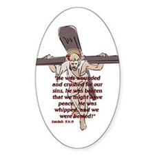 For our sin's Oval Decal