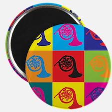 French Horn Pop Art Magnet