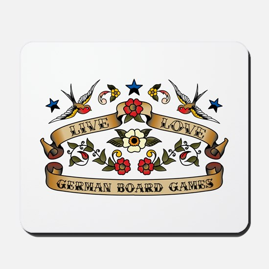 Live Love German Board Games Mousepad