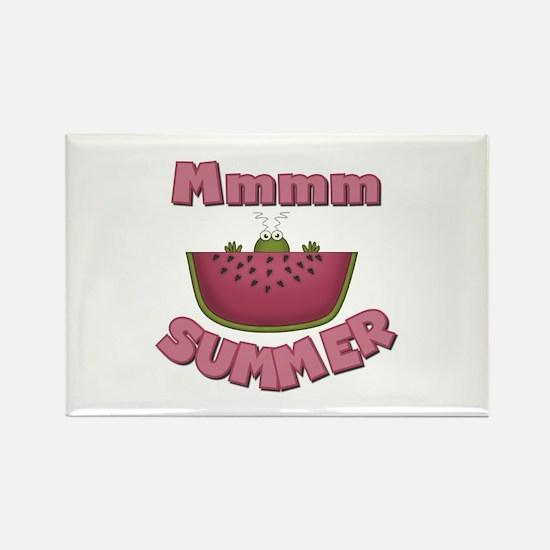 Watermelon Summer Rectangle Magnet