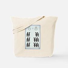 6 + 8 Penguins Tote Bag