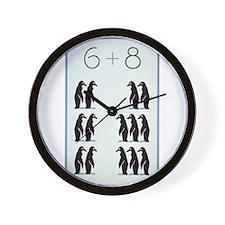 6 + 8 Penguins Wall Clock