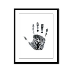 Hand Plant Framed Panel Print