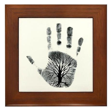 Hand Plant Framed Tile