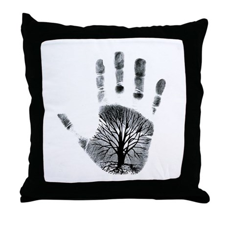 Hand Plant Throw Pillow