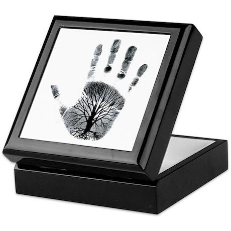 Hand Plant Keepsake Box