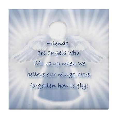 Friendship Angel Tile Coaster