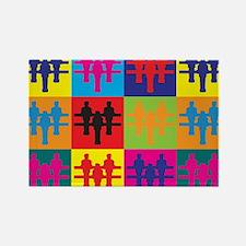 Foosball Pop Art Rectangle Magnet