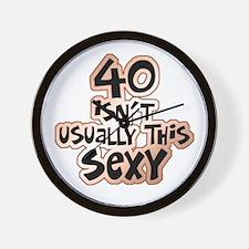 40th birthday sexy 40 Wall Clock