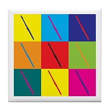 Flute Pop Art Tile Coaster