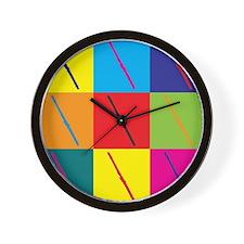 Flute Pop Art Wall Clock
