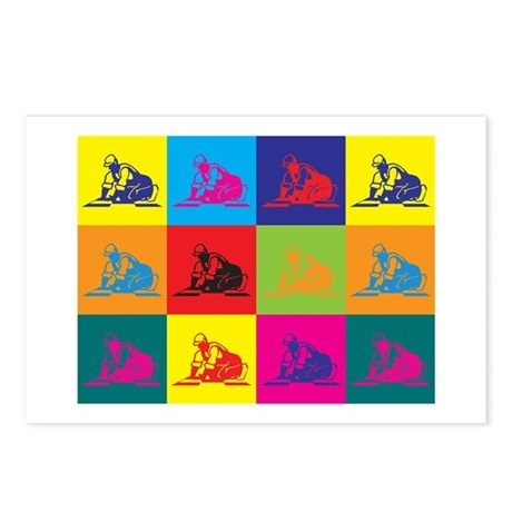 Flooring Pop Art Postcards (Package of 8)