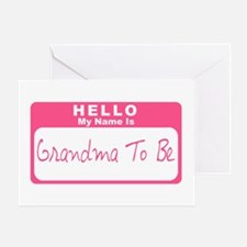 My Name Is Grandma To Be (Pink) Greeting Card