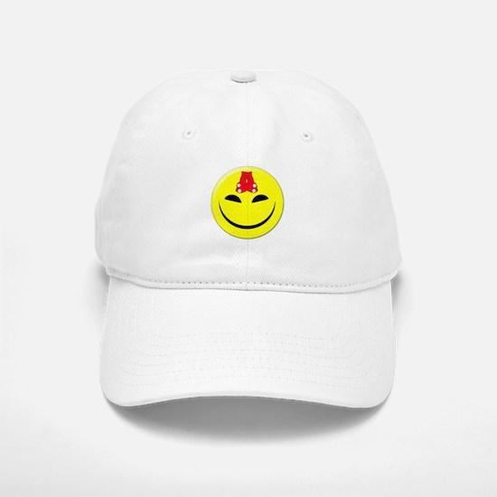 Smiley-Red Sox Baseball Baseball Cap