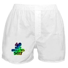 Rainbow 40th birthday Boxer Shorts