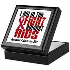 In The Fight Against AIDS 1 (Son) Keepsake Box