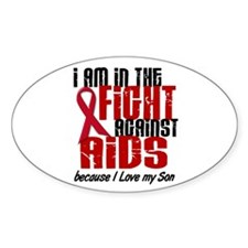 In The Fight Against AIDS 1 (Son) Oval Decal