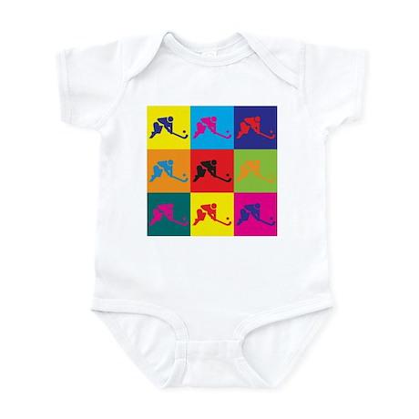Field Hockey Pop Art Infant Bodysuit