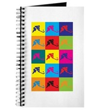 Field Hockey Pop Art Journal