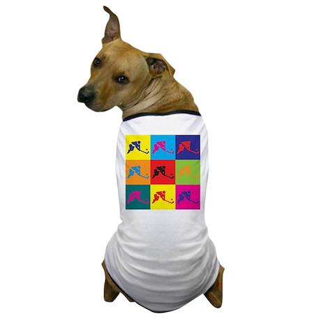 Field Hockey Pop Art Dog T-Shirt