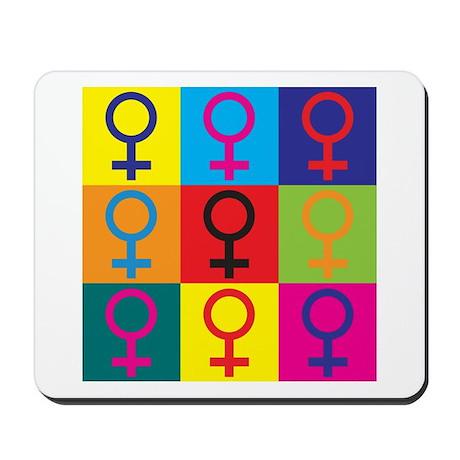 Feminism Pop Art Mousepad