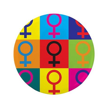 """Feminism Pop Art 3.5"""" Button (100 pack)"""