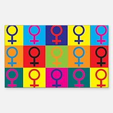 Feminism Pop Art Rectangle Decal