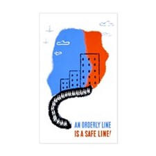 Orderly Safe Line Rectangle Decal