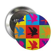 "Falconry Pop Art 2.25"" Button"