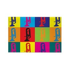 Euphonium Pop Art Rectangle Magnet