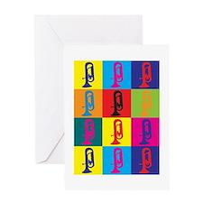 Euphonium Pop Art Greeting Card