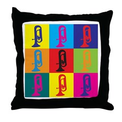 Euphonium Pop Art Throw Pillow