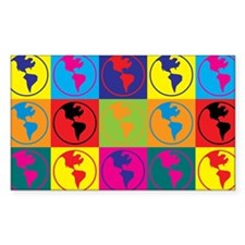 Environmental Science Pop Art Rectangle Bumper Stickers