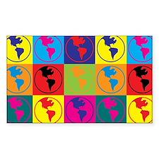 Environmental Science Pop Art Rectangle Stickers