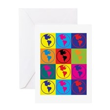 Environmental Science Pop Art Greeting Card