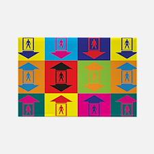Elevators Pop Art Rectangle Magnet (10 pack)