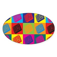 Electrical Engineering Pop Art Oval Decal