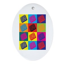 Electrical Engineering Pop Art Oval Ornament