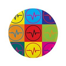 "EEG Pop Art 3.5"" Button (100 pack)"