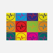 EEG Pop Art Rectangle Magnet