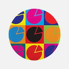 """Economics Pop Art 3.5"""" Button"""