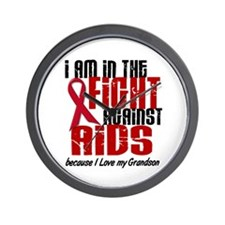 In The Fight Against AIDS 1 (Grandson) Wall Clock