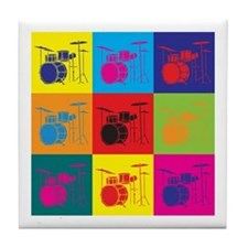 Drums Pop Art Tile Coaster