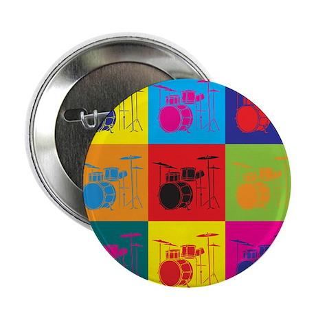 "Drums Pop Art 2.25"" Button"