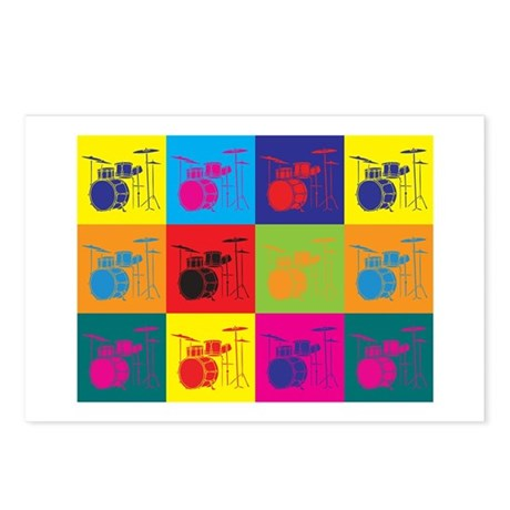 Drums Pop Art Postcards (Package of 8)