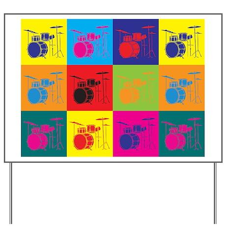 Drums Pop Art Yard Sign
