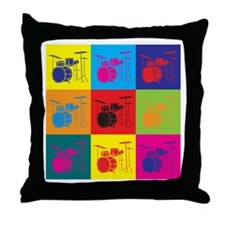 Drums Pop Art Throw Pillow