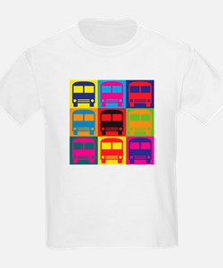 Driving a Bus Pop Art T-Shirt